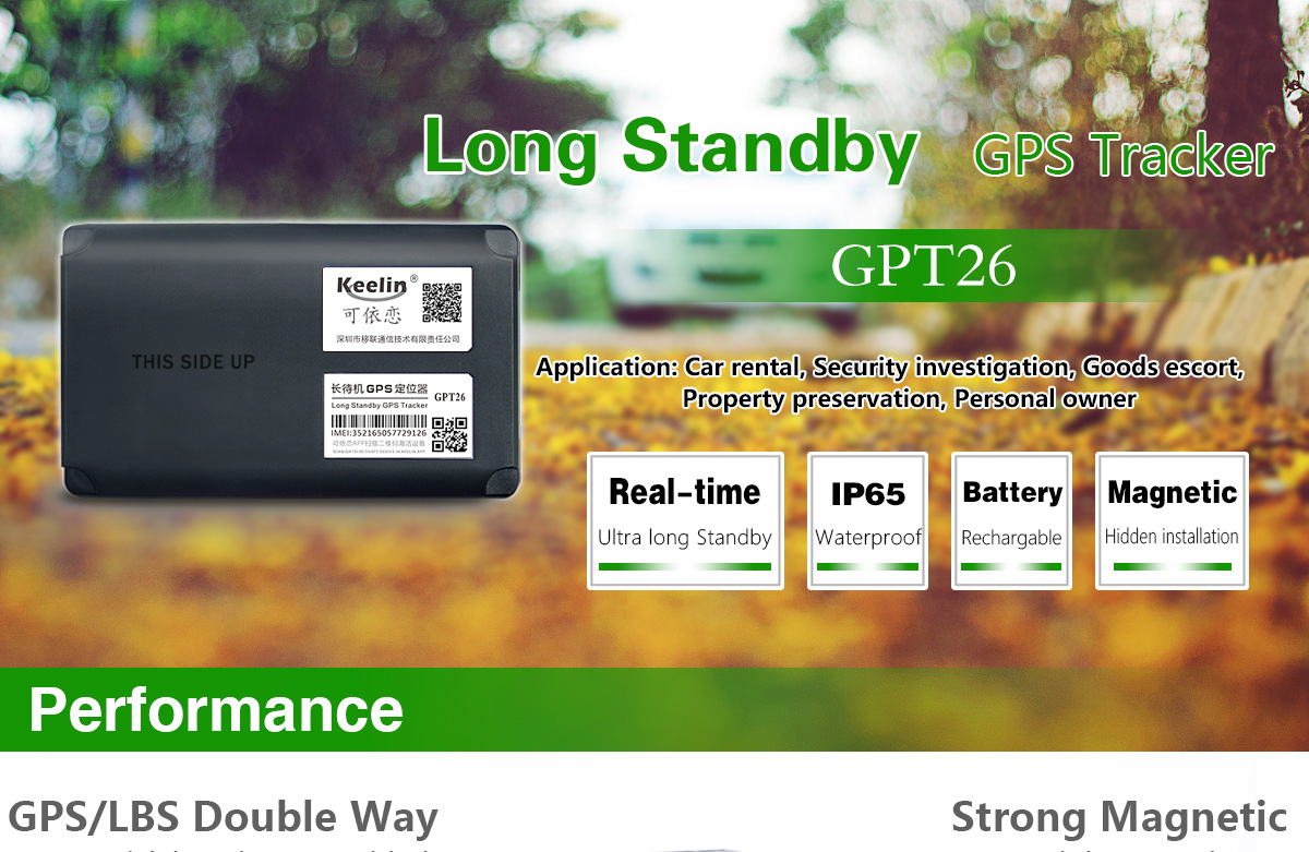 Long Standby GPS Tracker GPT26