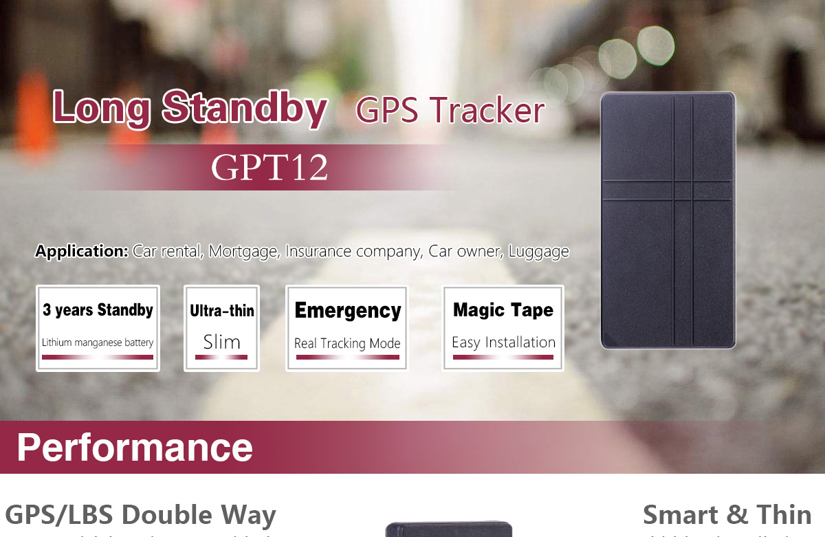 Super Long Standby GPS Tracker GPT12