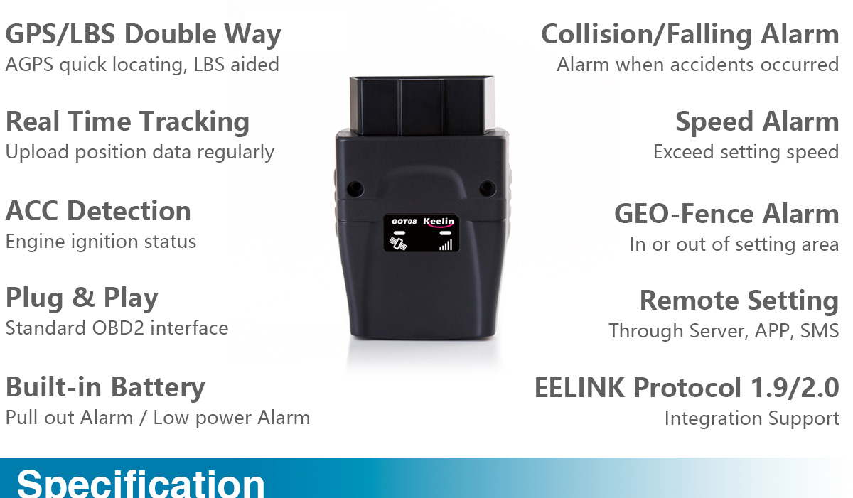 OBD interface GPS Tracker GOT08
